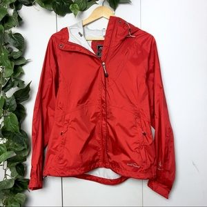 EDDIE BAUER Red Light Spring Rain Coat Jacket